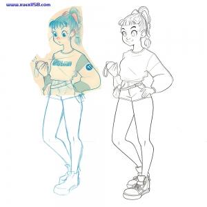 动漫人物绘画教程,cg插画入门,ps插画教程下载插图1